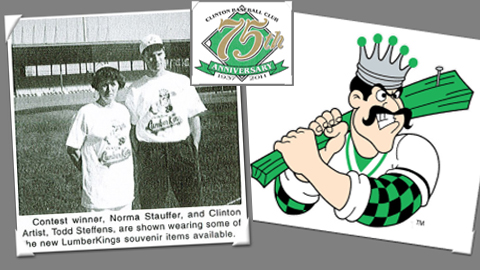 "The ""LumberKings"" name, created in 1993, was adopted in 1994 as Clinton's 9th-different name."