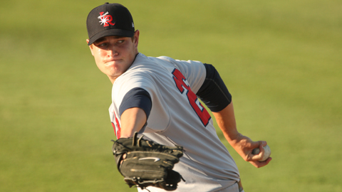 Garrett Richards leads the Texas League with 11 victories this year.